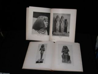 2 Vintage 1923 Books Museum Antiquites Egyptian,  Text In German,  Illustrated photo