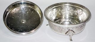 Mid 20th Century Silver Plated Persian/islamic Sugar Or Rice Bowl photo
