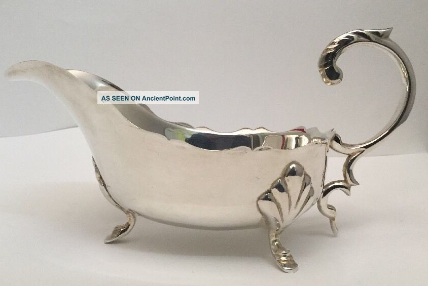 Antique / Art Nouveau Silver? Silver Plate Large Sauce Boat - No Markings Sauce Boats photo