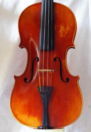 Antique French Violin Labeled Ch.  - J.  B.  Collin - Mezin Paris 1903 photo