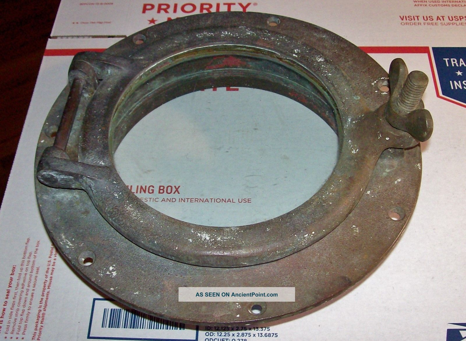 Antique 1920 ' S Wilcox&crittenden Bronze Boat Porthole All And Beauty Portholes photo