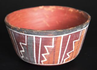 Nazca Pottery Bowl With Geometric Designs — Peru 100 Ad - 500 Ad photo