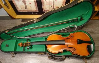 3/4 Scale Anton Becker Violin - Made In Germany 1205 - Bow Stamped