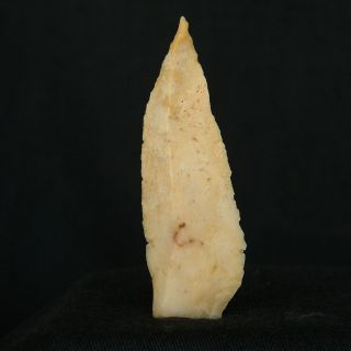 Perfect Saharian Upper Paleolithic Flint Projectile Armature - 59 Mm Long photo
