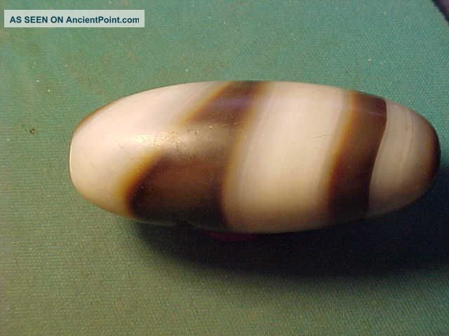 Large Ancient Banded Agate Bead 3rd Millennium Bc Near Eastern photo