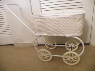 Antique Victorian Pram/stroller/buggy Doll Carriage photo