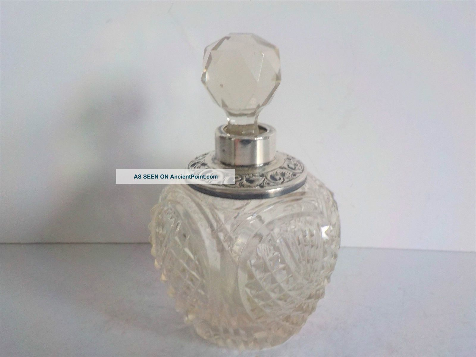 Antique Sterling Silver Perfume Bottle Henry Perkins & Sons London 1909 C Bottles photo