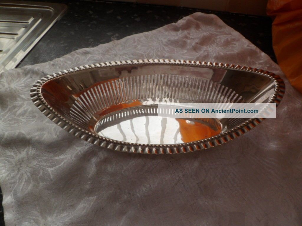 Silver Plated Boat Shaped Dish Dishes & Coasters photo