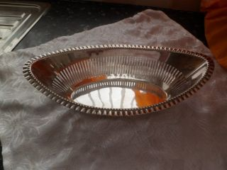 Silver Plated Boat Shaped Dish photo
