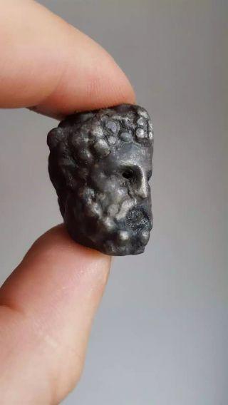 Ancient Silver Roman Statue photo