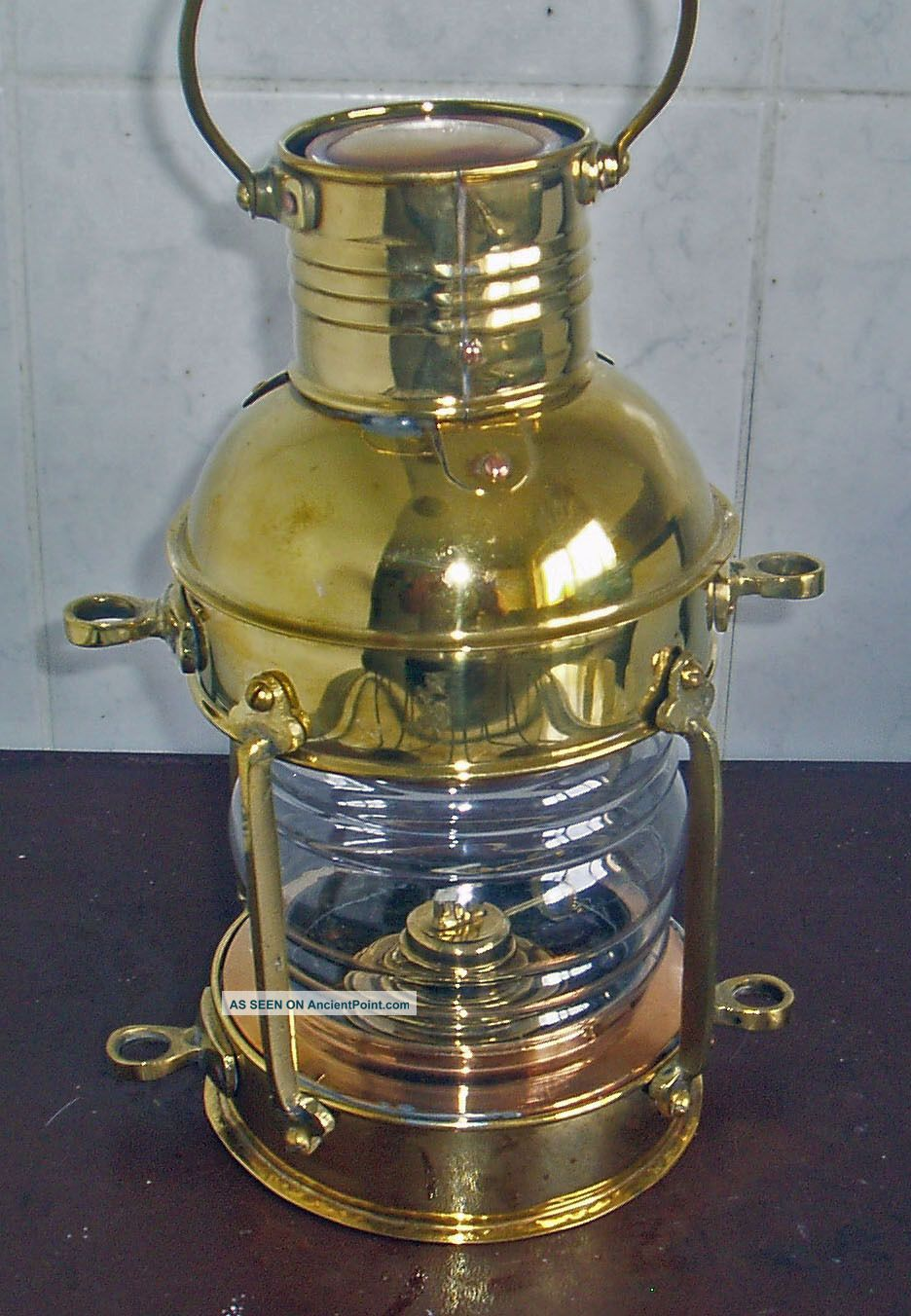 Maritime Brass Ships Kerosene Lantern Lamp Height 30 Cm Or 12 Inch Other Maritime photo