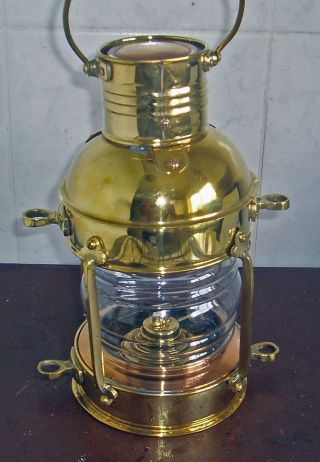 Maritime Brass Ships Kerosene Lantern Lamp Height 30 Cm Or 12 Inch photo