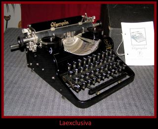 Antique Art Deco Olympia Filia Typewriter - Year:1935 - (video Inside) photo