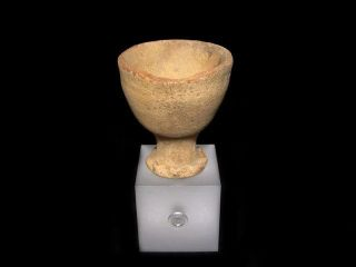 Rare Medieval Period 1300 - 1400s.  Medical Clay Cup,  Good As Found, photo