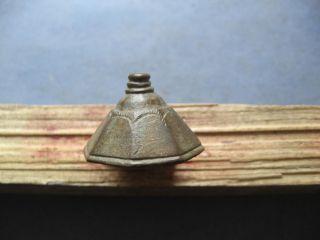 Sword Hilt Ancient Celtic Bronze Engraved Piece Of Weapon 300 - 100 B.  C. photo