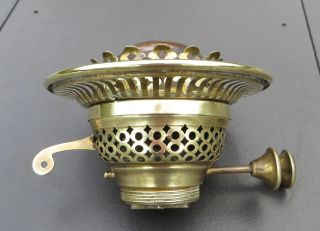Vintage British Made Brass Duplex Oil Lamp Burner With 4