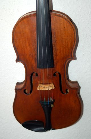 Interesting Antique Handmade German 4/4 Violin - 150 Years Old photo
