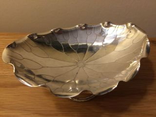 Stunning Antique Chinese Export Silver Lotus Flower Bowl Kwong Man Shing C 1900 photo