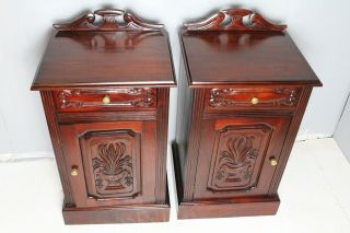 Great American Country Solid Mahogany Hand Carved Night Stands photo
