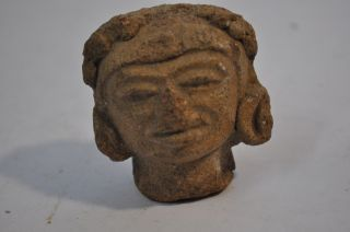 Pre - Columbian Tlatico Figural Fragment Head Circa 1500 - 1000 Bc Caa - 232 photo