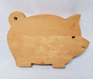Vintage Small Wooden Wood Fat Body Pig Cutting Or Bread Board photo