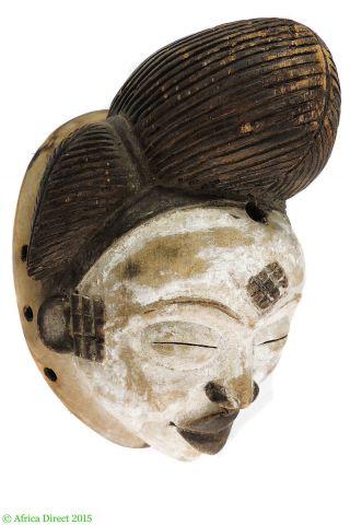 Punu Mask Maiden Spirit Mukudji Gabon African Art photo