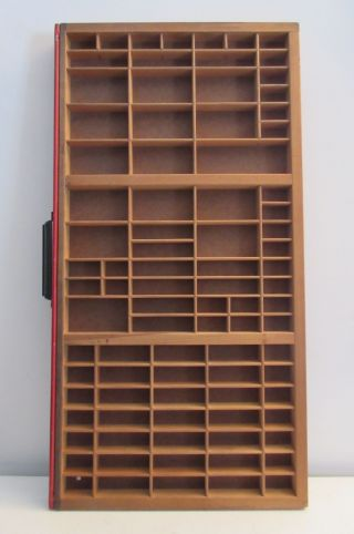 Vintage Midcentury Hamilton Printers Cabinet Shadow Box Letterpress Drawer Tray photo