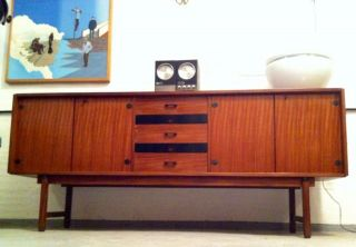 Italian Credenza Anni 50 Sideboard Eames Era Panton Era Danish Design Vintage photo