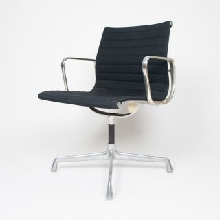 Eames Herman Miller Black Fabric Low Back Executive Aluminum Group Desk Chair photo