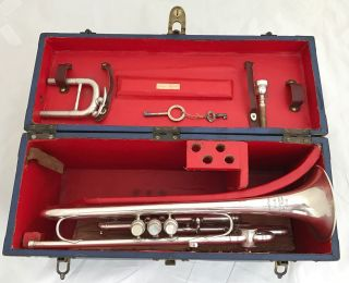 Antique Antoine Courtois Trumpet Pitched In B/c/d/f Trumpet Owned By Louis Gassi photo
