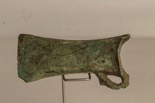 Stunning Big Ancient Celtic Bronze Axe Head 1200 - 1100 Bc Gava - Goligard Culture photo