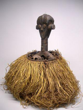 A Fine Bakota Kota Guardian Basket Reliquary With Janus Figure photo