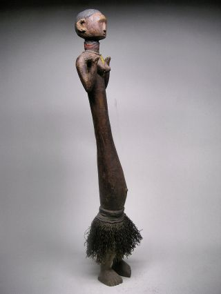A Tall Ceremonial Nyamwezi Figure 30 1/2 Inches Tall Stunning photo