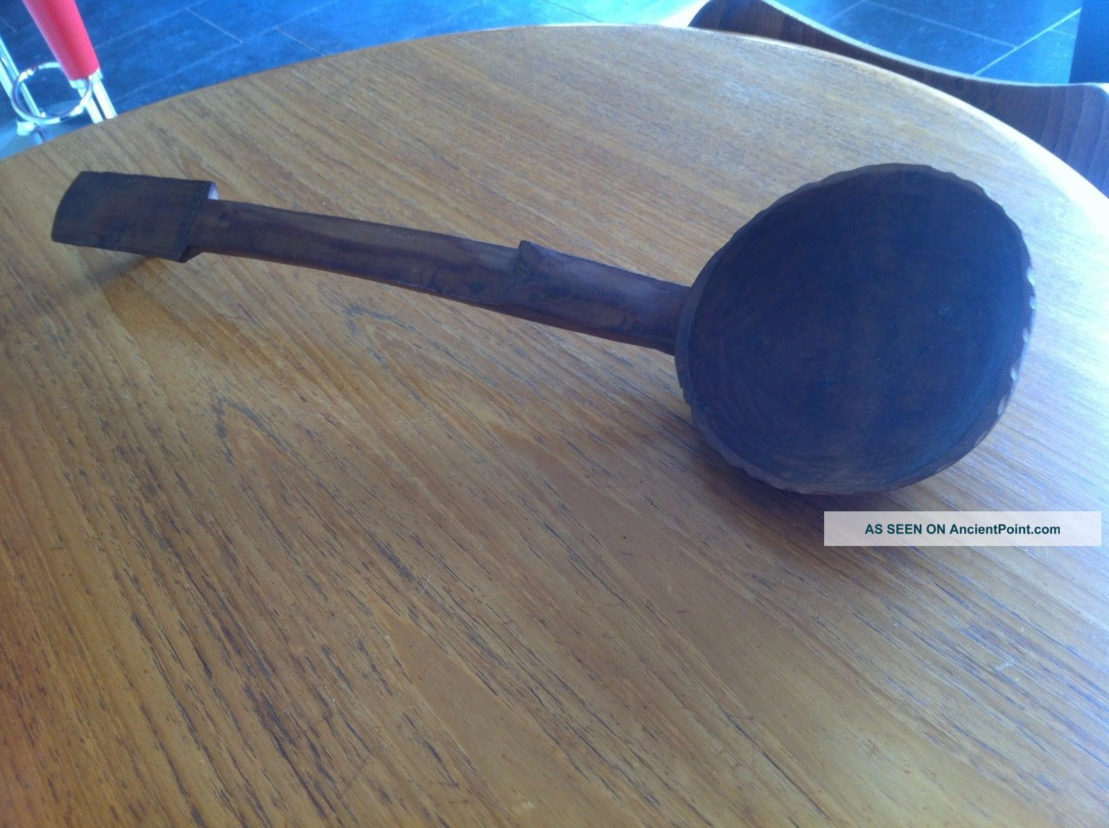 Fijian Cava Kava ? Ladle Very Large Hand Carved Wood Vintage African? Pacific Islands & Oceania photo