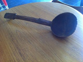 Fijian Cava Kava ? Ladle Very Large Hand Carved Wood Vintage African? photo