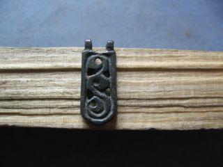 Stylized Snake Amulet Ancient Celtic Bronze Magic Talisman 400 - 200 B.  C. photo
