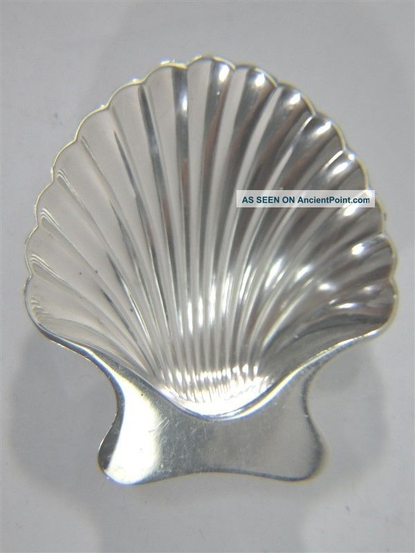 Vintage Tiffany Sterling Silver Shell Nut Candy Dish 22479 No Mono Dishes & Coasters photo