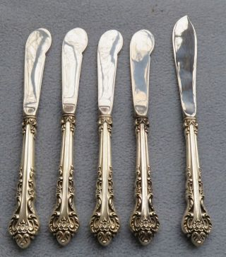 5 Pc International Sterling Silver Masterpiece Master Butter Knife And Spreaders photo
