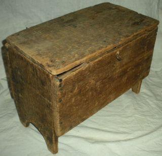 Antique C 1770 Revolutionary War Era 6 Board Mini Document / Personal Chest Vafo photo