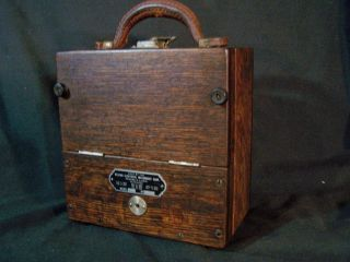 Antique Weston Electrical 45 Ammeter Dc Amp Meter Pat 1901 Wood Box Steampunk photo