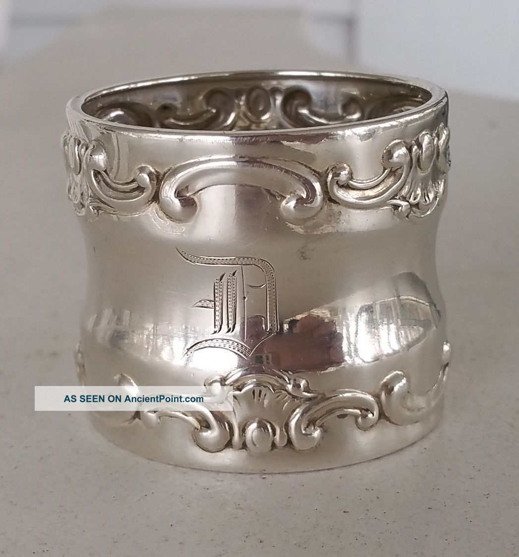Strasbourg By Gorham Sterling Silver Napkin Ring 22 Grams 1 1/2