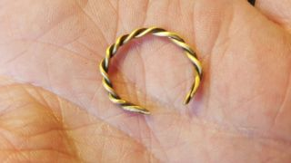 Viking Rare Pure Solid 23/24ct Gold Twisted Ring photo
