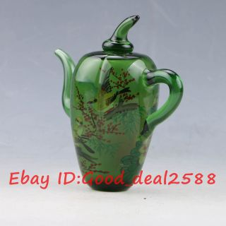 Chinese Colourful Glass Hand - Carved Teapot Shape Snuff Bottles X0401 photo
