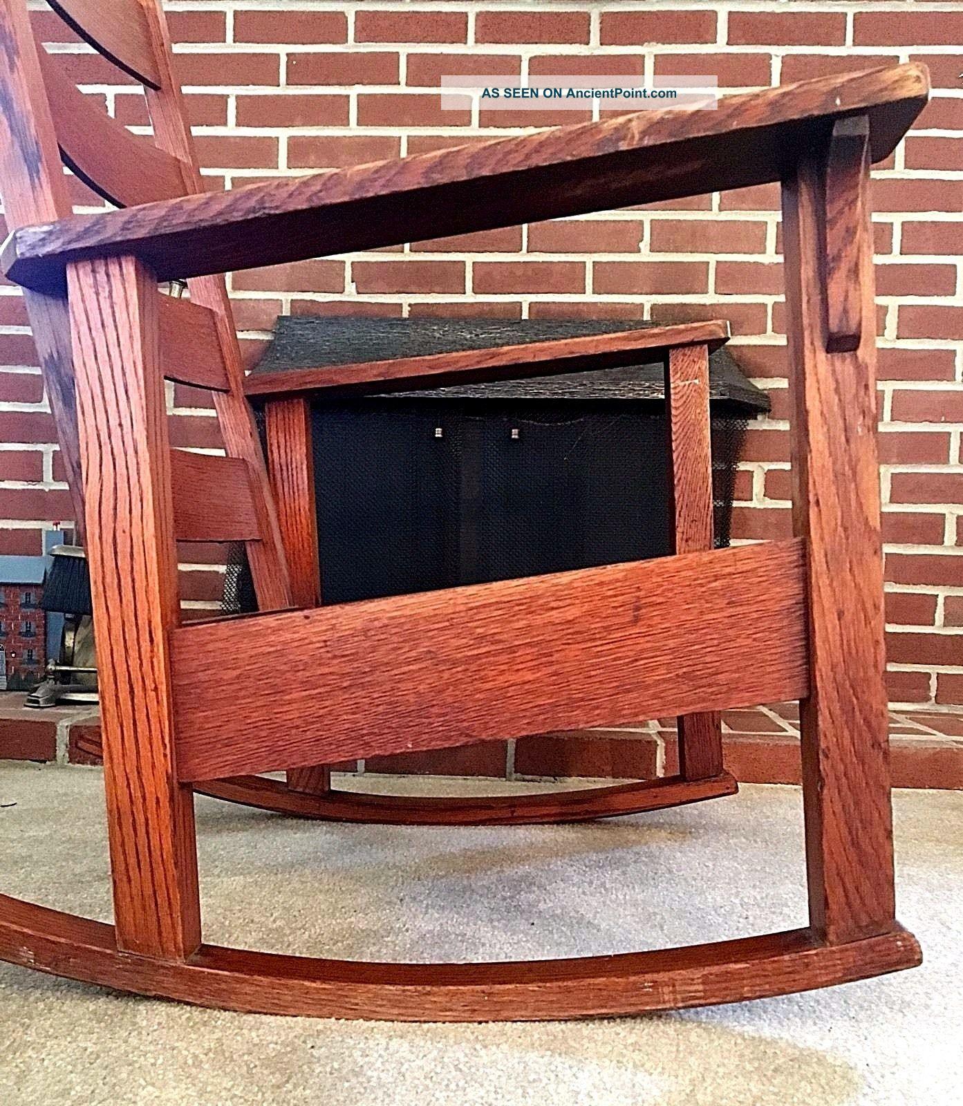 Antique Stickley Rocking Chair Quaint 1902 Arts & Crafts