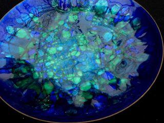 Modernist Enamel On Copper Plate Ng For Georg Jensen. photo