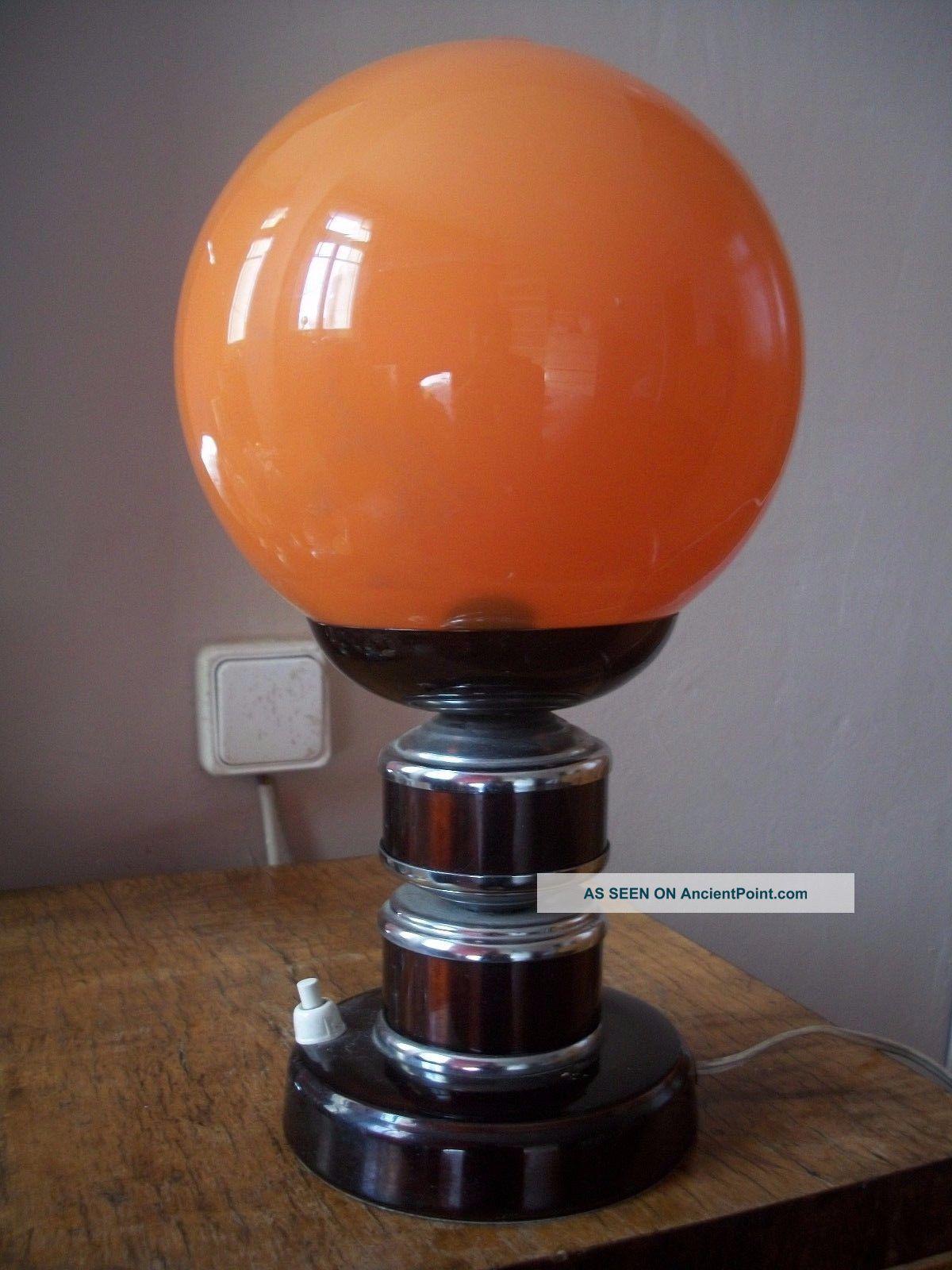 Vintage 60s 70s Space Age Pop Mid Century Modern Panton Era Table Lamp