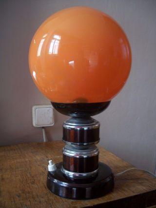 Vintage 60s 70s Space Age Pop Mid Century Modern Panton Era Table Lamp photo