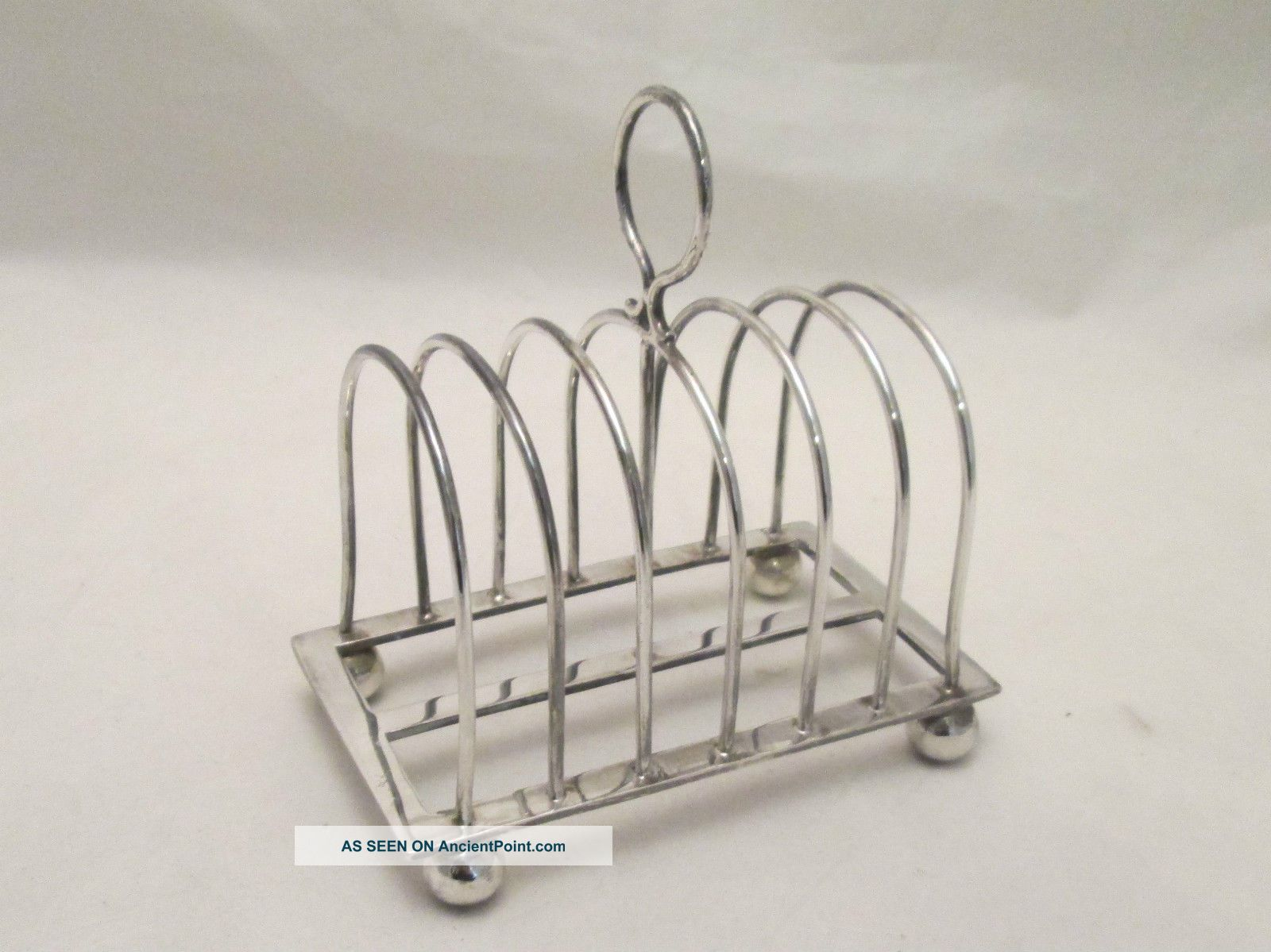 A Silver Plated Toast Rack By Hutton & Sons - Early 20th Century Other Antique Silverplate photo