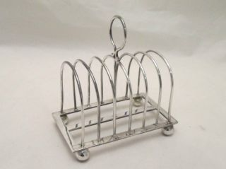 A Silver Plated Toast Rack By Hutton & Sons - Early 20th Century photo