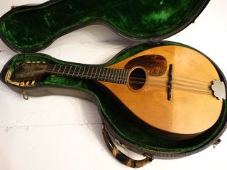 Rare 1919 Antique C.  F.  Martin Mandolin 8 String Serial 13702 A Style photo